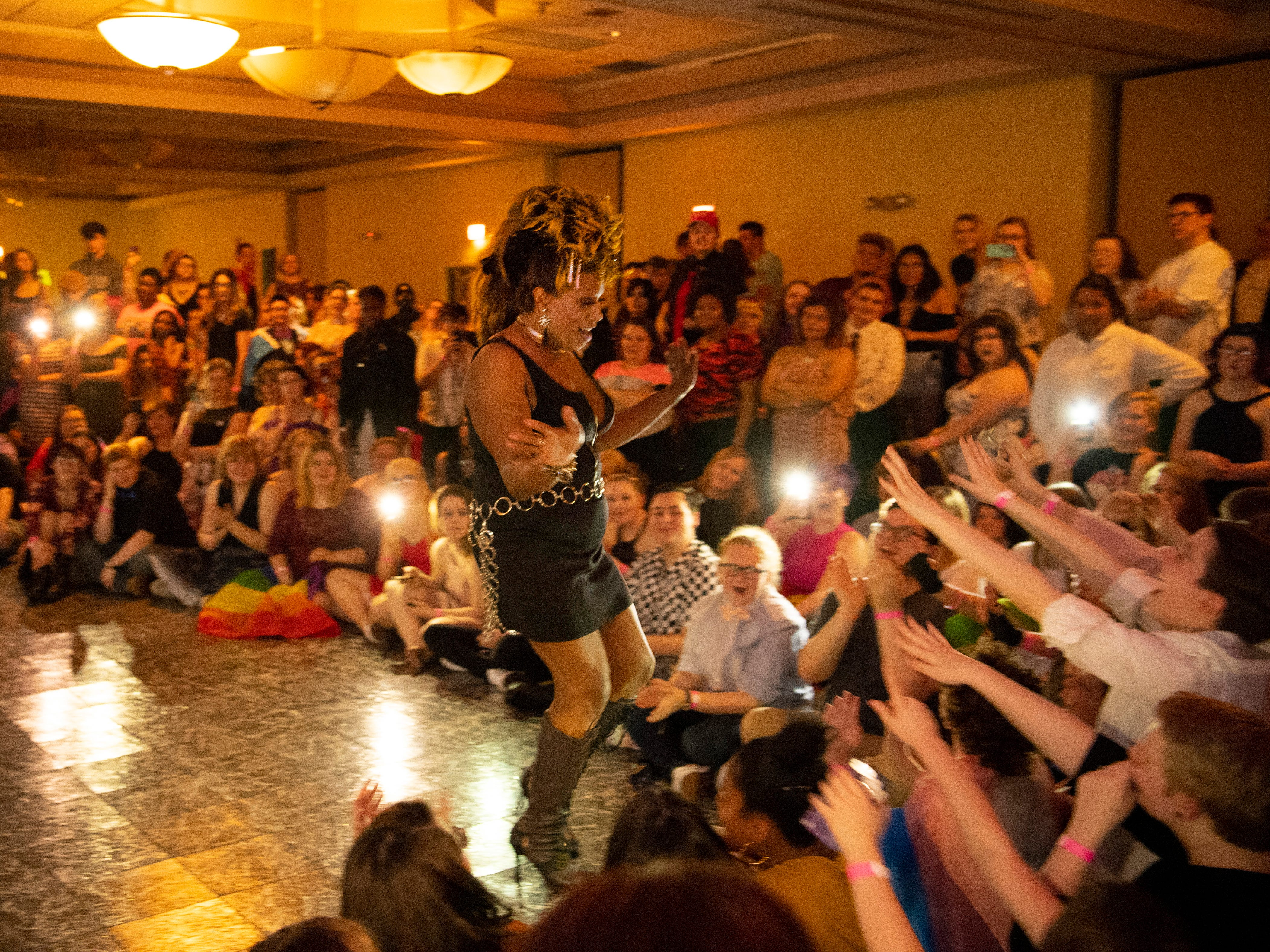 Keisha Von Lord performs at the Tri-State Alliance Pride Prom at the Holiday Inn Saturday night.