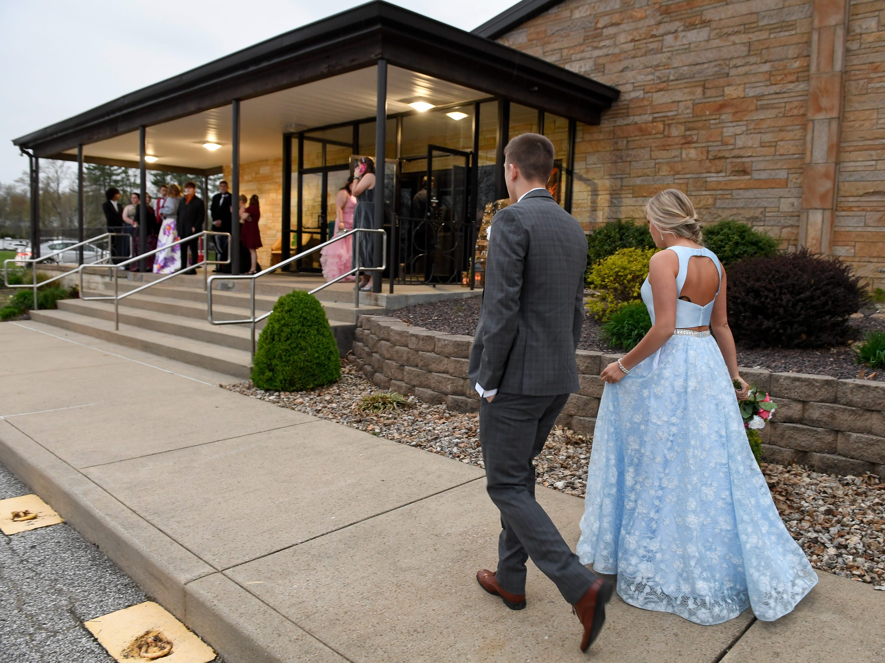 Couples arriving for the Reitz High School Prom held at the Vanderburgh 4-H Center Saturday, April 13, 2019.