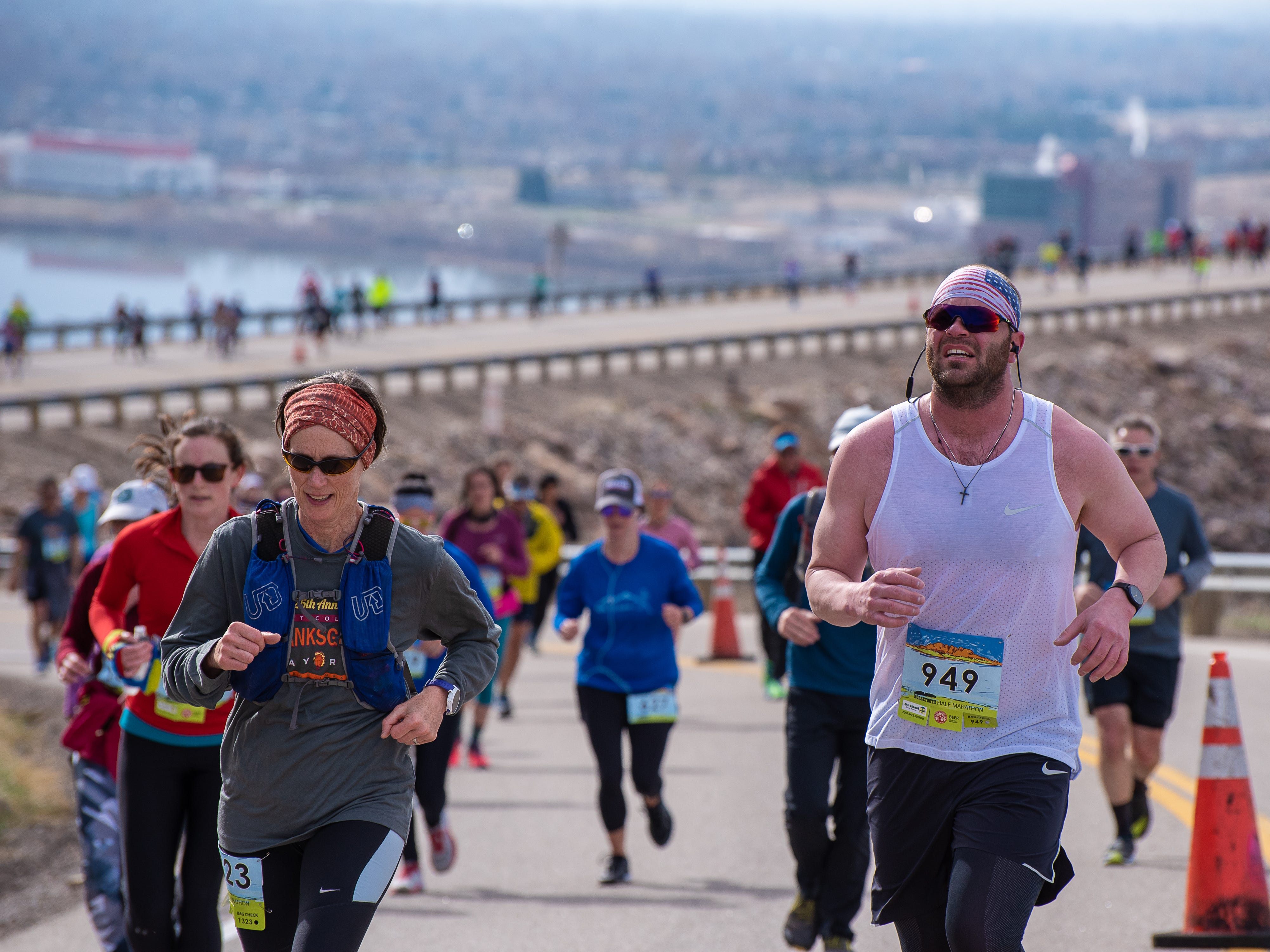 Scenes from the Horsetooth Half Marathon on Sunday, April 14, 2019, in Fort Collins, Colo.