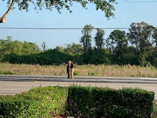 The Lee County Sheriff's Office closed Lee Boulevard  from Olympia Pointe Boulevard to Westgate Boulevard and taped off the south side of Lee by Leonard Boulevard North for a shooting investigation Sunday morning, April 14, 2019.