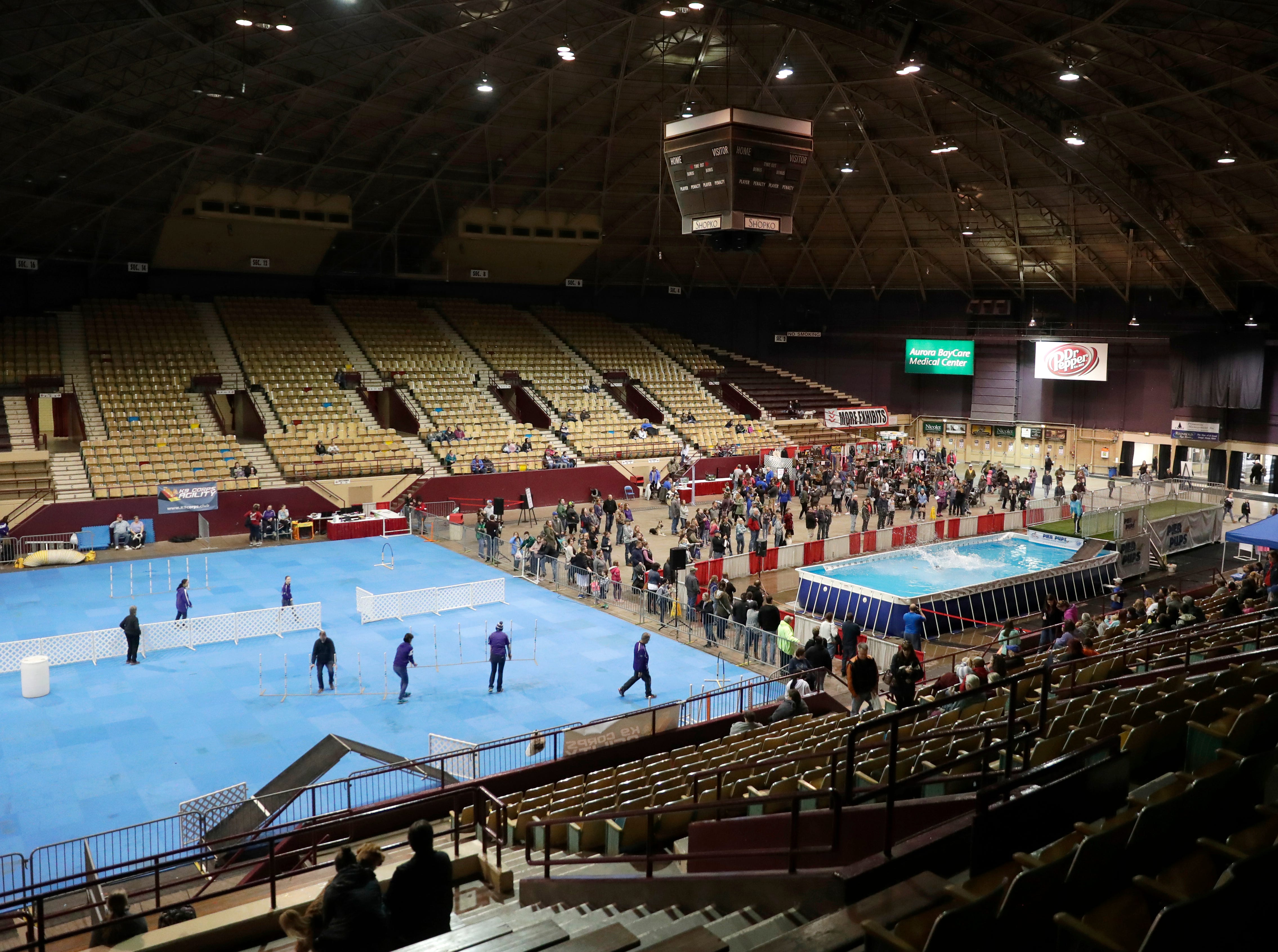 The WBAY Pet Expo held April 12-14, 2019 is the final event to be held in the Brown County Veterans Memorial Arena before it is demolished.