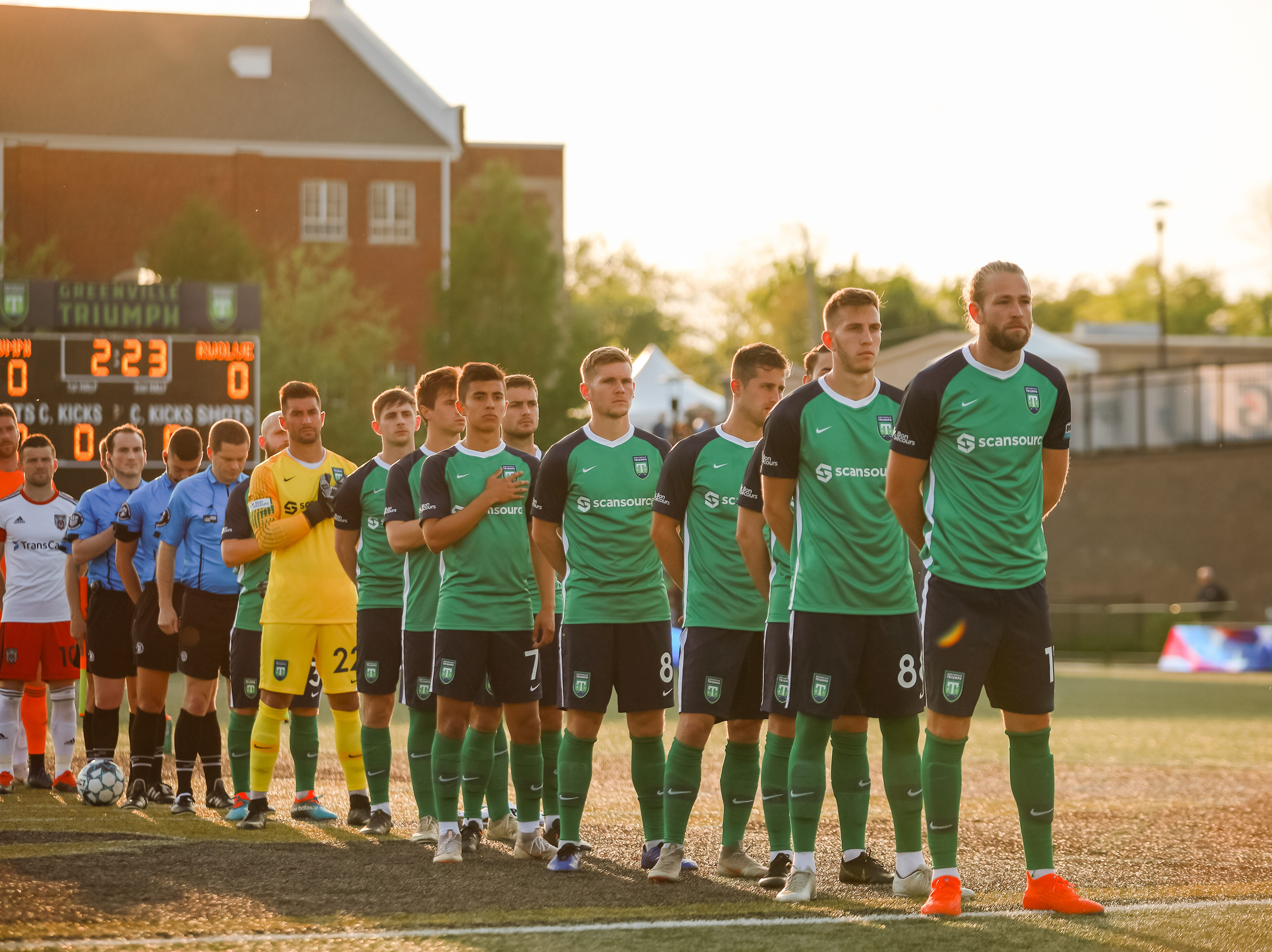The Greenville Triumph Soccer Club hosted their second home game at Legacy Early College on April 13 at 7 p.m. against the Chattanooga Red Wolves. This season is the team's inaugural season.