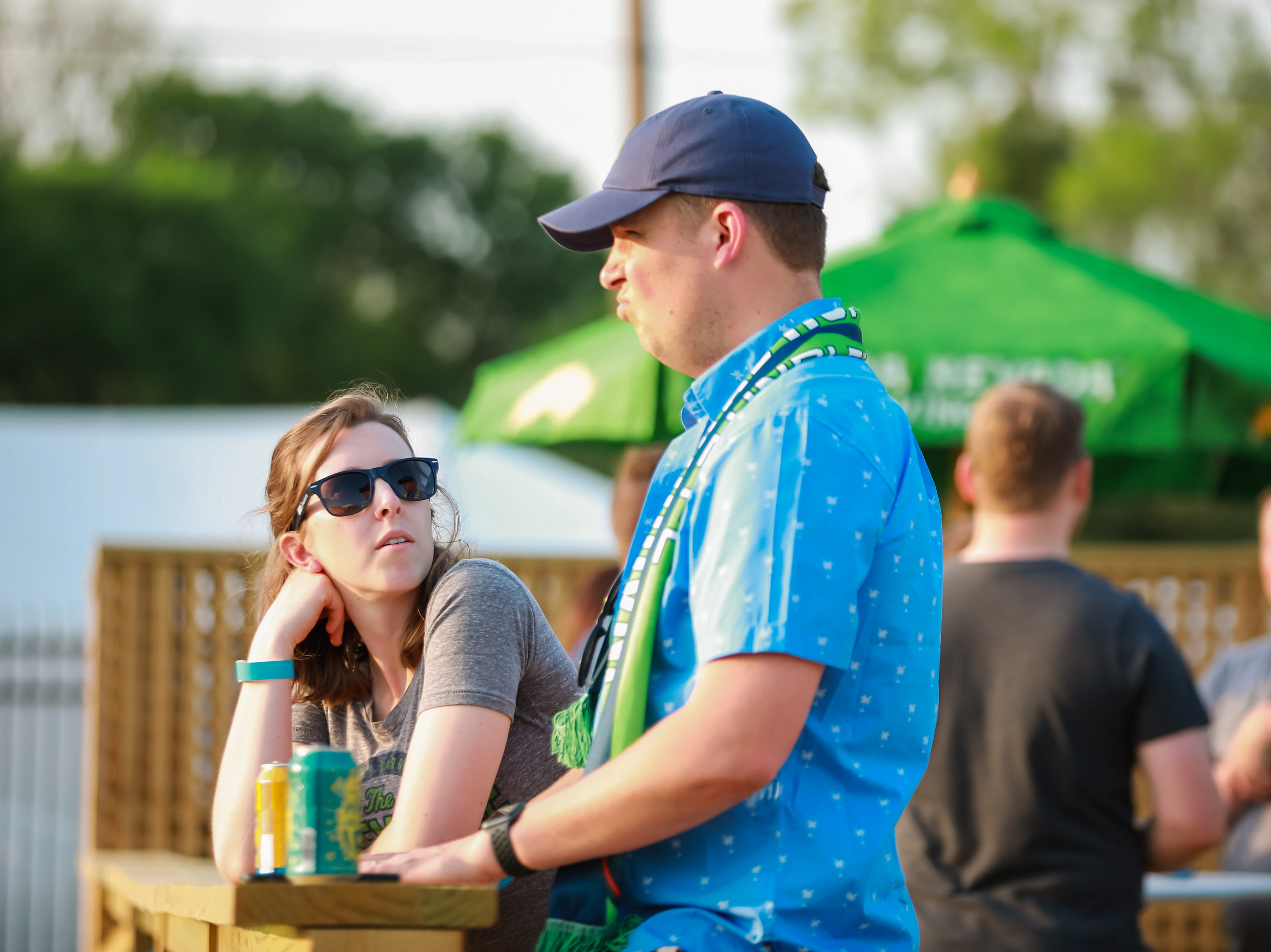 Anna and David Hanor relax on the deck as they watch the Greenville Triumph Soccer club's second home game at Legacy Early College on April 13 at 7 p.m. against the Chattanooga Red Wolves. This season is the team's inaugural season.