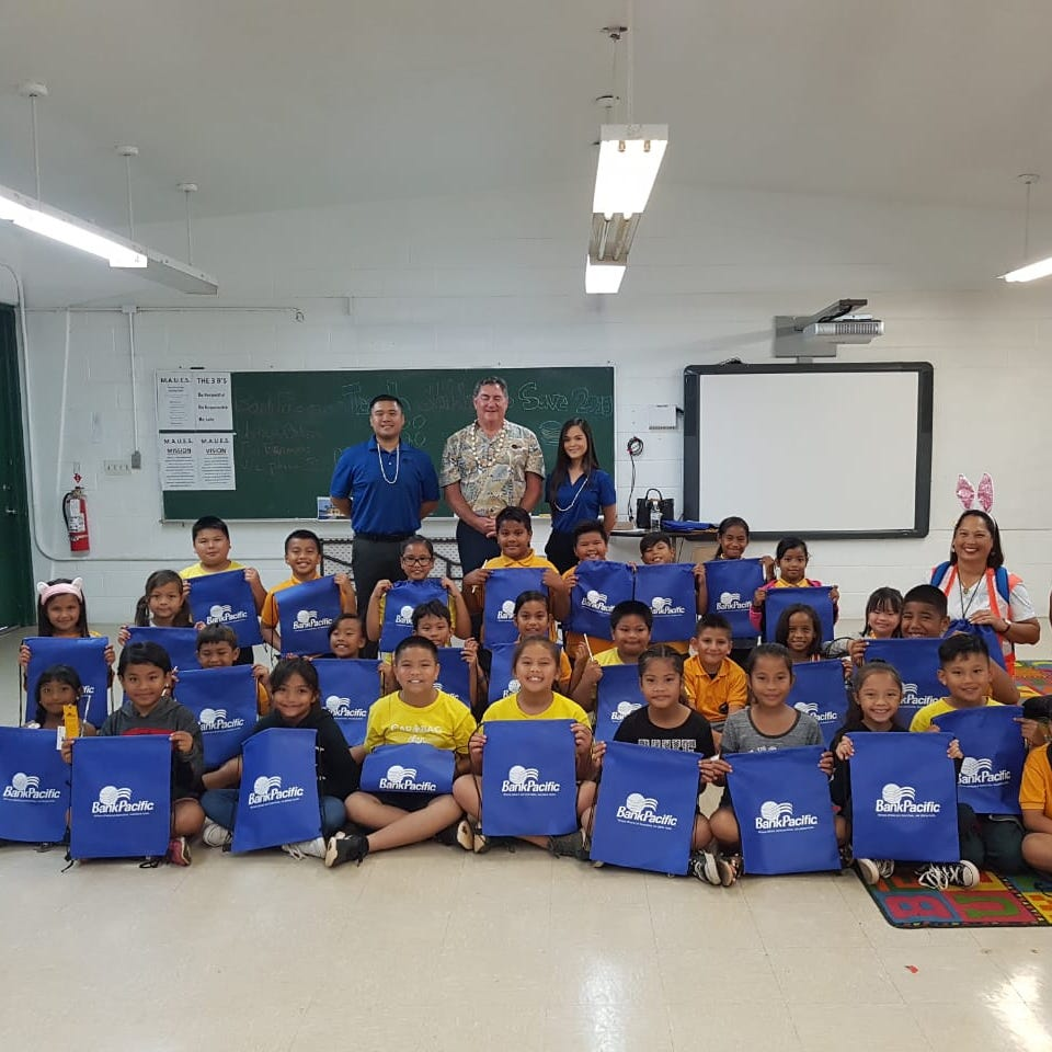 BankPacific visits schools to teach children to save