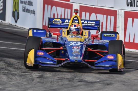 Alexander Rossi driving at Acura Grand Prix of Long Beach