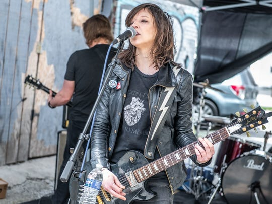 Erica Sellers performs with Taco Mouth Saturday at Square Cat Vinyl as part of Record Store Day festivities.