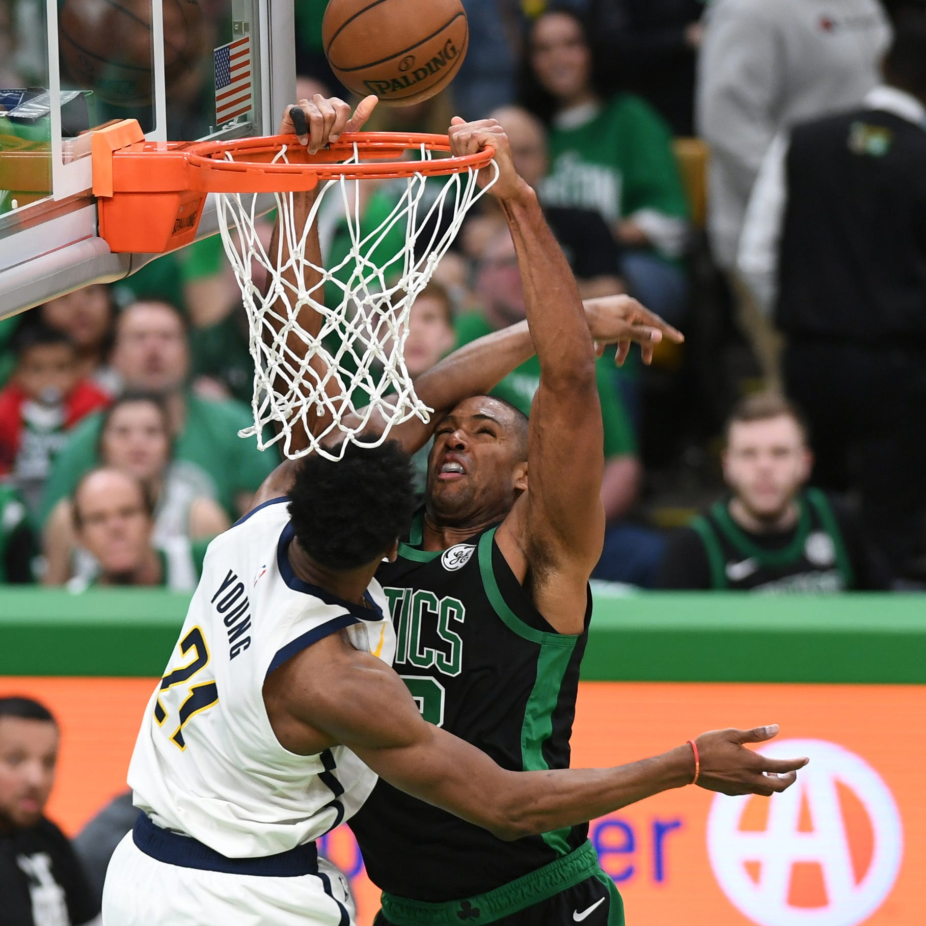 Pacers lead the Celtics at halftime of Game 1