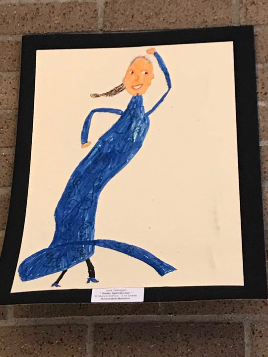 Third-grade student Jack Gahagan's drawing depicting his sister dancing took home an honorable mention at the 2019 Color of Music awards at the Carl Perkins Civic Center in Jackson on Saturday, April 13.
