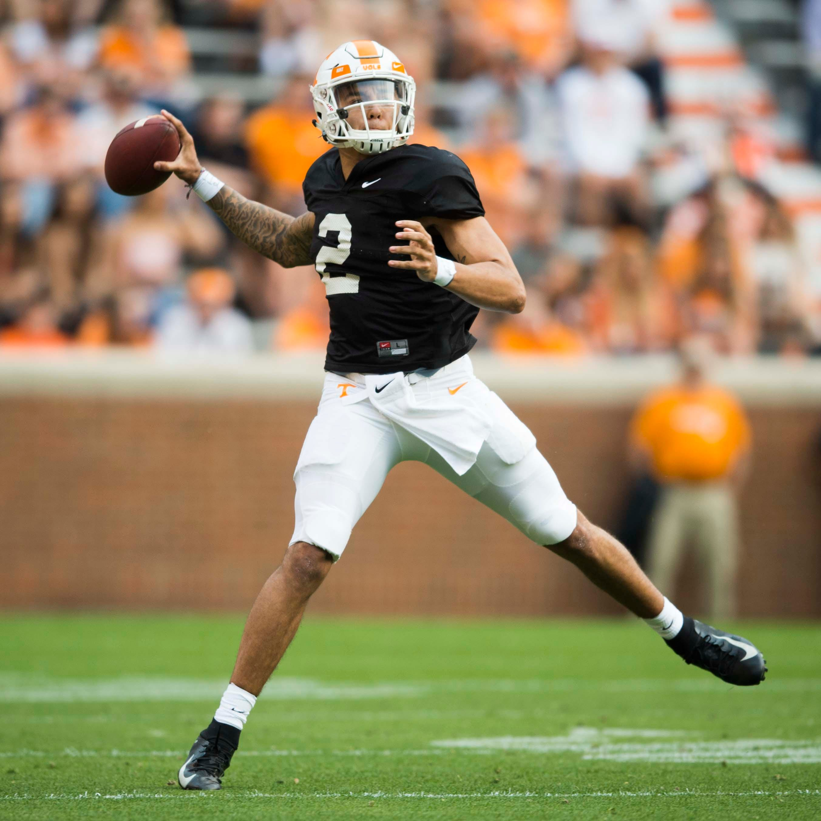 Tennessee's Jarrett Guarantano could move up in SEC East QB rankings