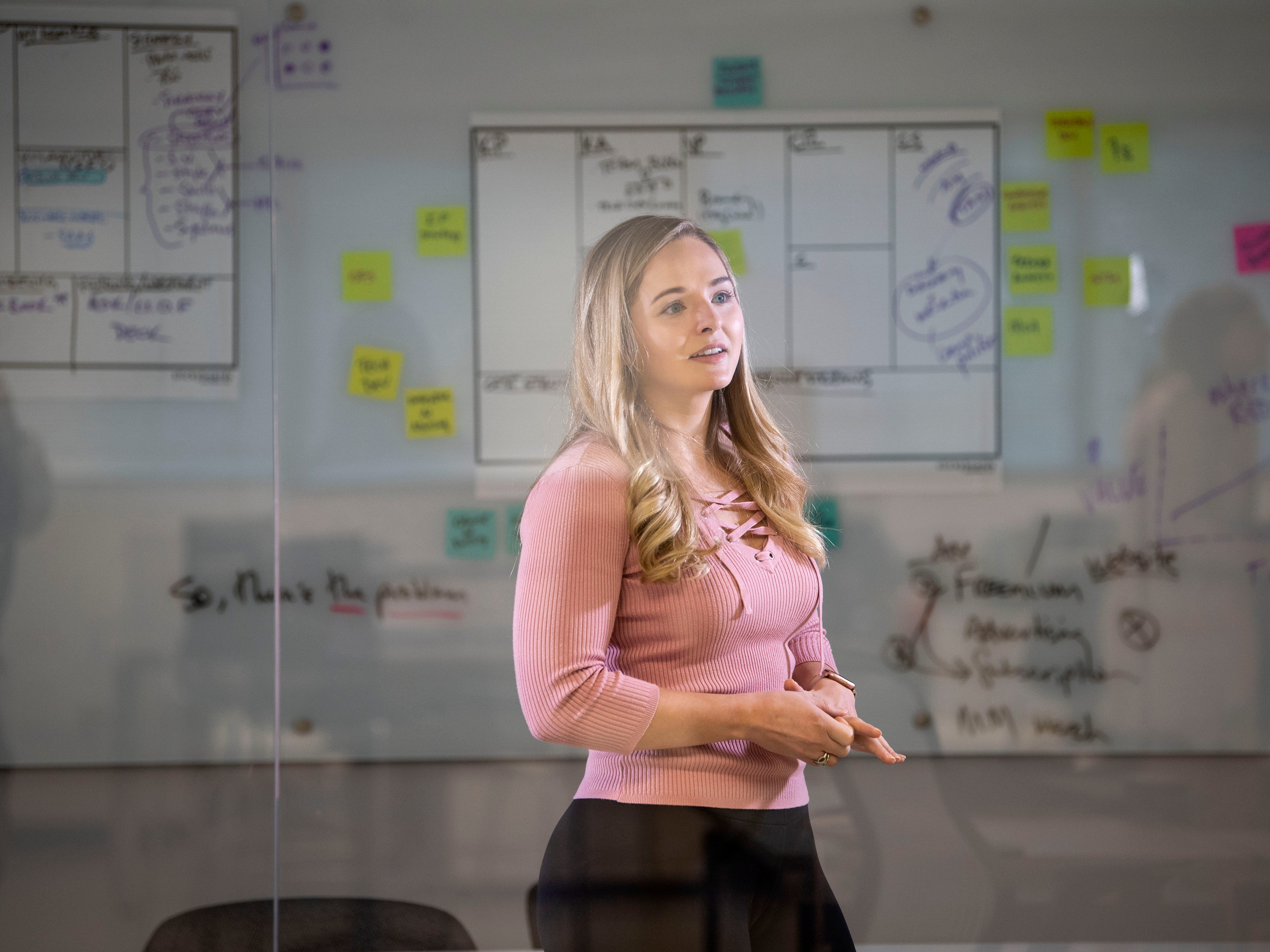 Erica Grant, CEO of Quantum Lock on Monday, March 11, 2019 at the University of Tennessee Research Foundation Incubator.