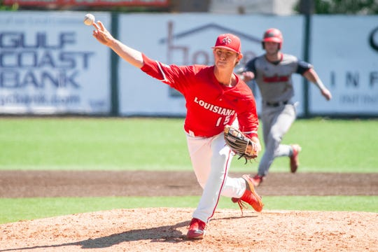 UL's Jacob Schultz, shown here working against South Alabama on Sunday, has found success working out of the Ragin' Cajun bullpen. He got the win vs. LSU on Tuesday night.