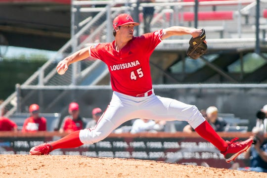 Starter Jack Burk went 6.0 inning for the Ragin' Cajuns in their 4-1 win over South Alabama on Sunday.