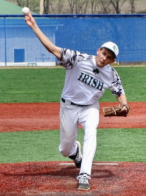 Fisher Catholic senior Daniel Turner fired a no-hitter against Danville on Saturday at Beavers Field. Turner struck out nine in five innings in the Irish's 13-0 victory.