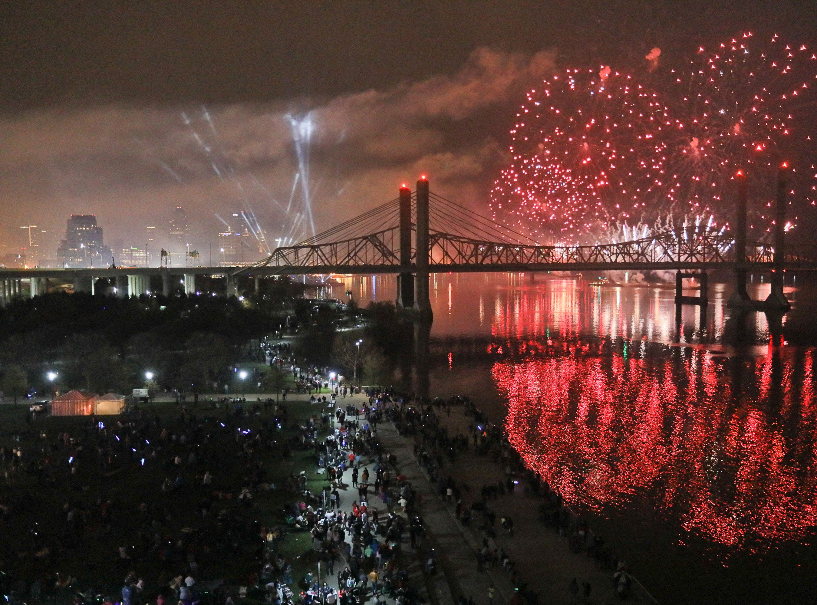 2019 Thunder Over Louisville from the Big 4 Bridge. Apr 13, 2019