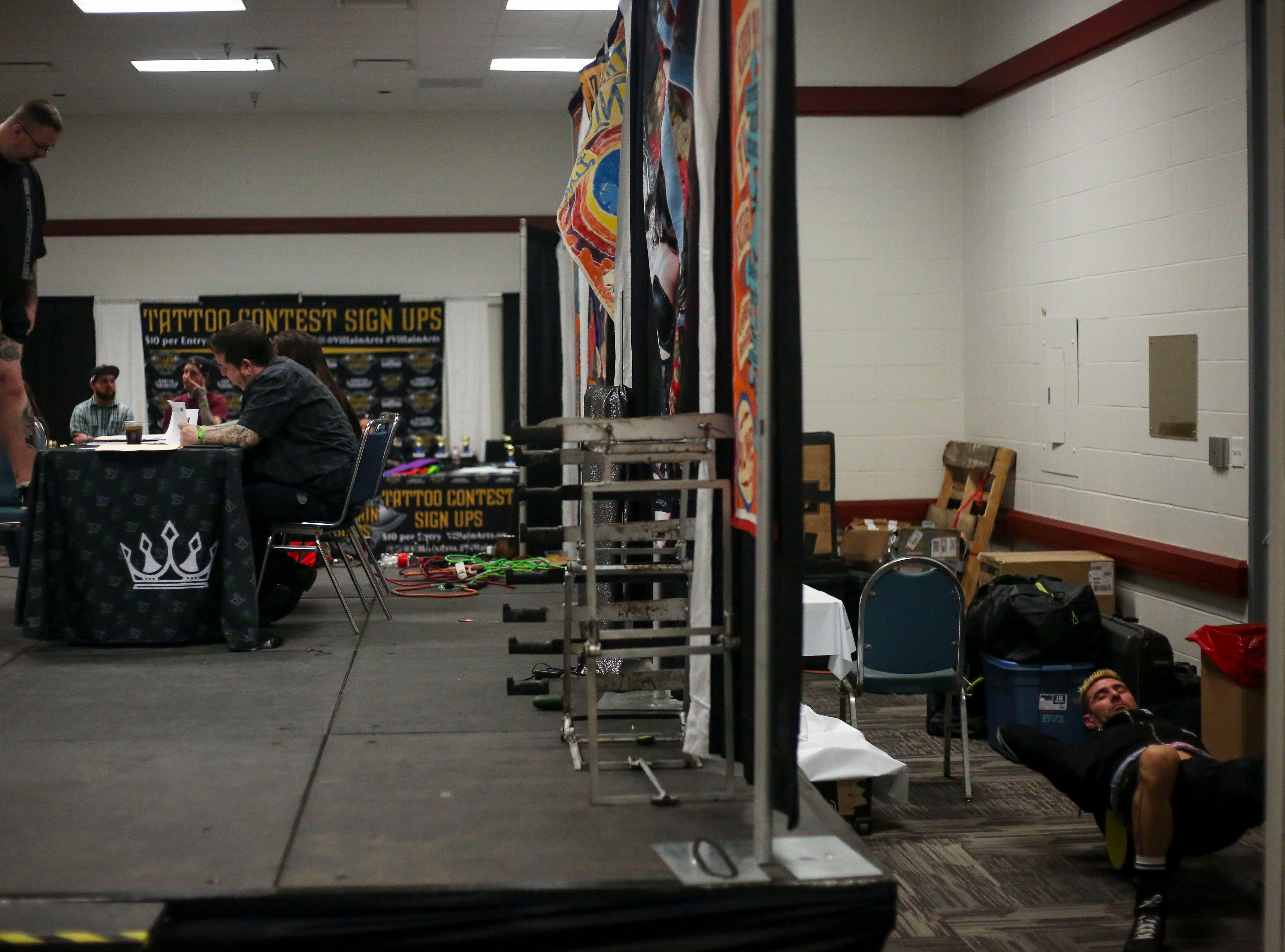 The tattoo contest at the 8th Annual Louisville Tattoo Arts Convention put on by Villain Arts at the Kentucky Expo Center in Louisville, Ky. on Saturday, April 13, 2019.
