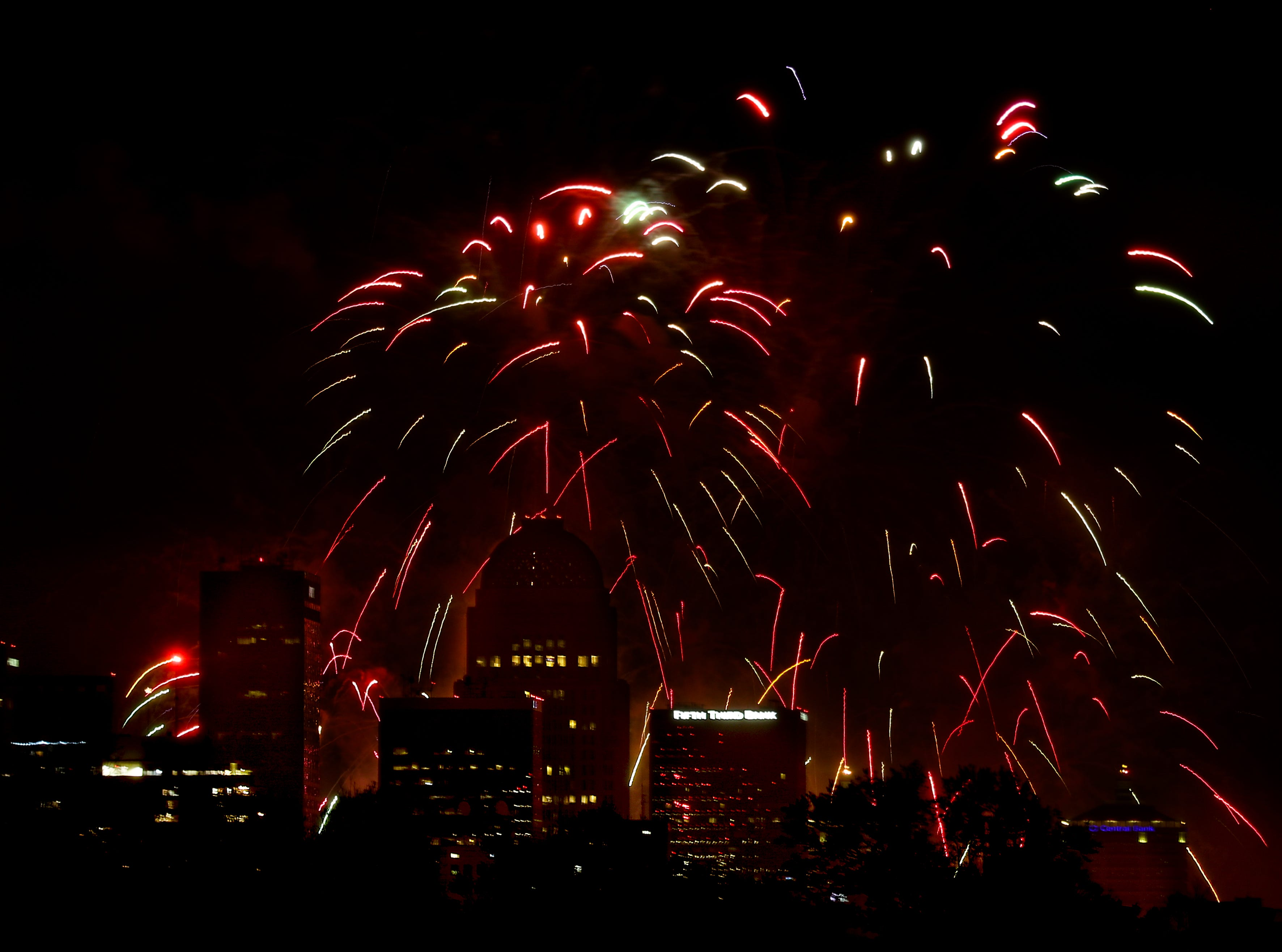 The fireworks show for Thunder Over Louisville on April 13.