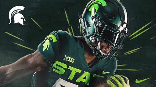 Michigan State football players are expected to wear this uniform for at least one game during the 2019 season.