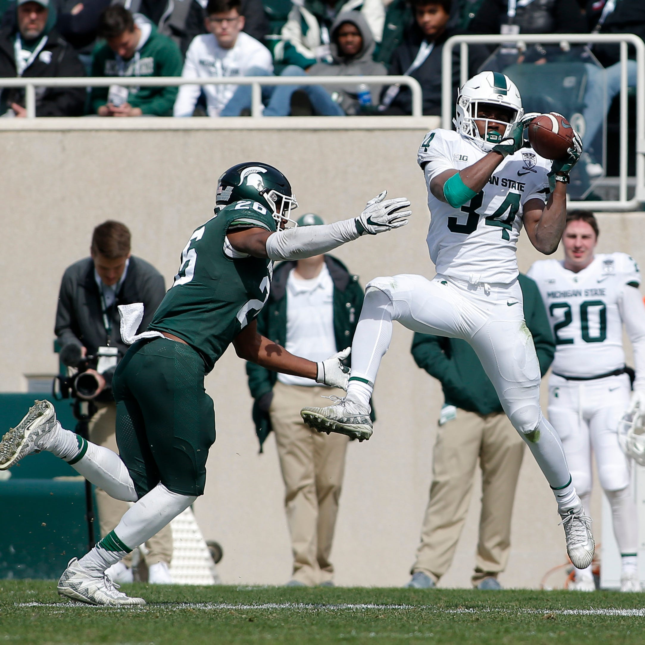Michigan State freshman Anthony Williams makes his case for open RB job