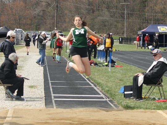 Madison sophomore Kari Eckenwiler repeated as long jump champ Saturday at the 87th Mehock Relays.