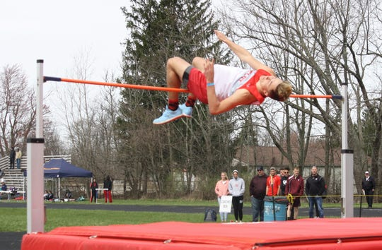 Shelby's reigning state high jump champ Uriah Schwemley cleared 6-6 in the 87th Mehock Relays, but Willard's Joey Holida beat him on fewer misses.