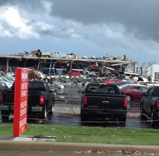 Tornado touches down in Shelby Sunday afternoon