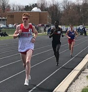 Shelby's Caleb Brown cruised to a repeat title in the 3200 at the 87th Mehock Relays.