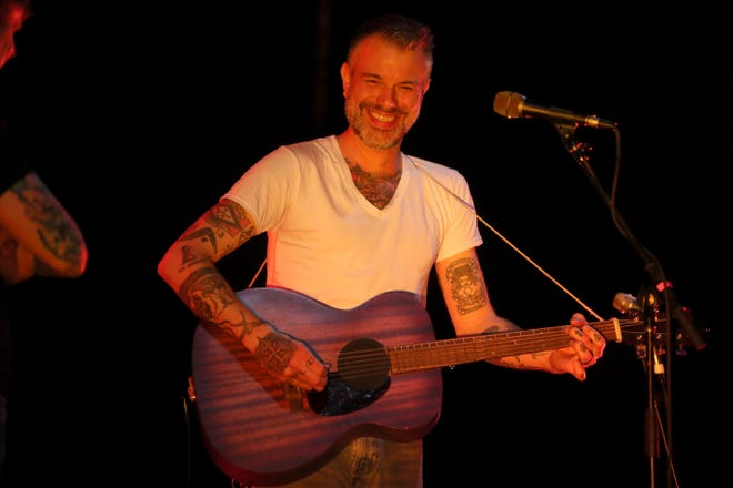 Lucero, led by Ben Nichols, will headline a Christmas concert at Minglewood Hall on Friday.