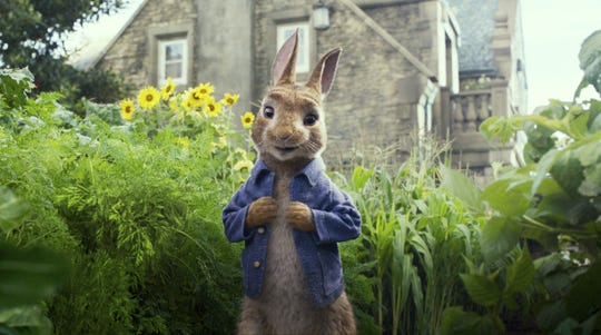 """The rascally """"Peter Rabbit"""" is the featured attraction at Marcus Theatres' """"Hop to the Movies"""" event Saturday."""