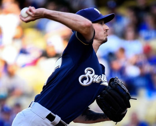 Zach Davies gave the Brewers another solid start as he allowed just one run on eight hits with no walks and six strikeouts during his seven-inning stint against the Dodgers on Saturday night at Dodger Stadium.
