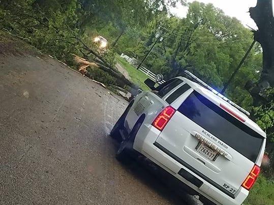 Storm damage in Richland Parish