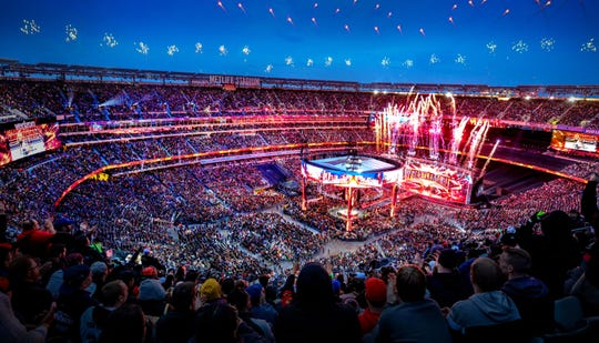 """WrestleMania"" drew a big crowd last Sunday."
