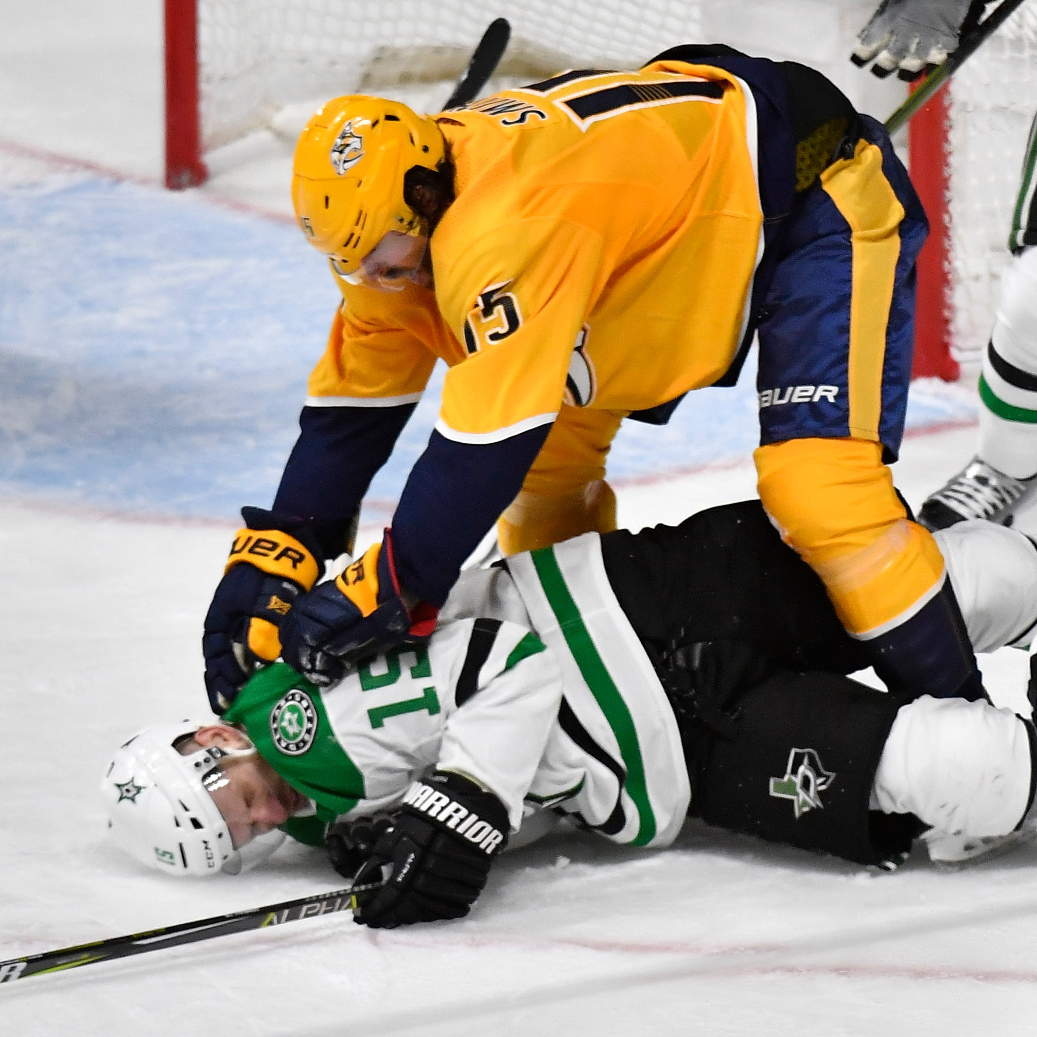 Anger is the Predators' friend, or at least it was for one night