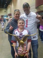 Newark second-grader Bryson Bonner recently won the NuWay Nationals D2 Heavyweight Championship