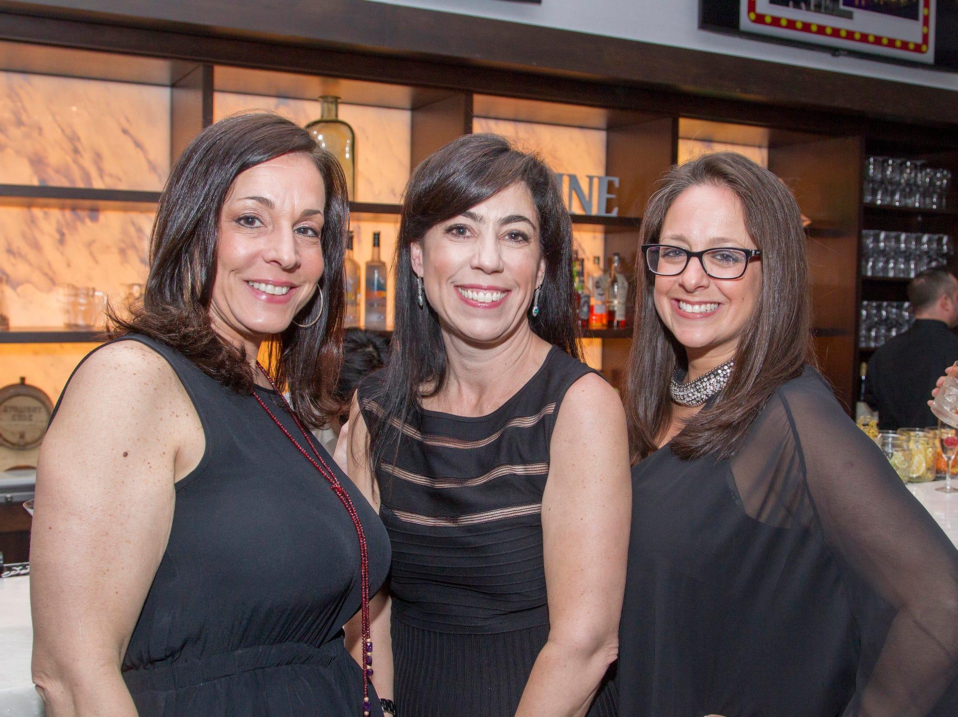 Stephanie Janirr, Melissa Battaglia, Debbie Eliopoulos. Saddle River Day Annual Gala at Alpine Country Club 04/13/2019