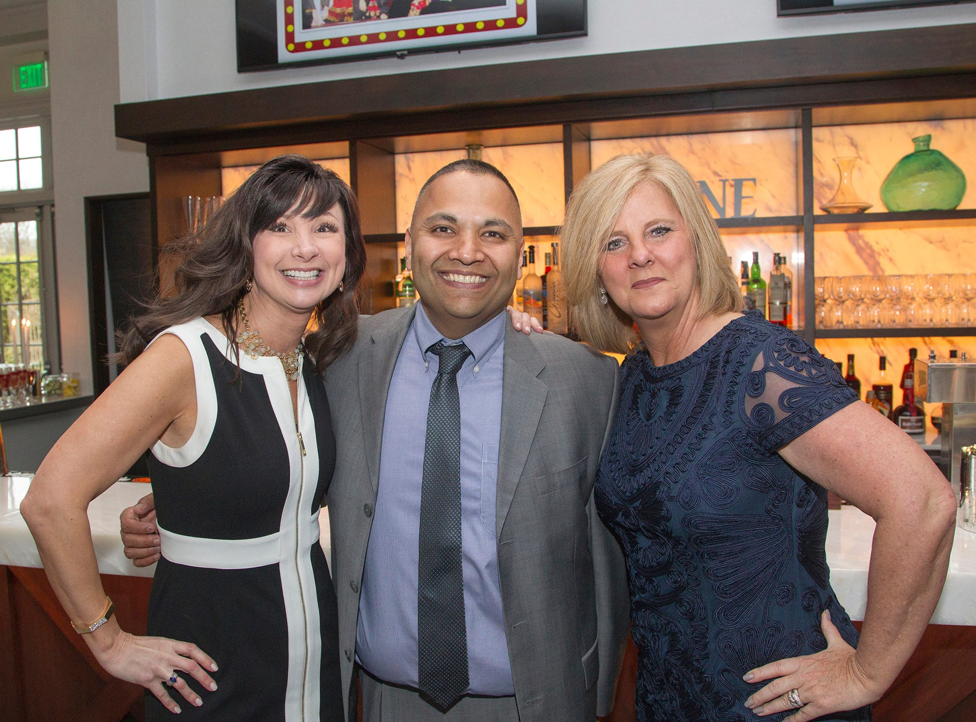 Chrissie Signore, Niles Patel, Gretchen Lee. Saddle River Day Annual Gala at Alpine Country Club 04/13/2019