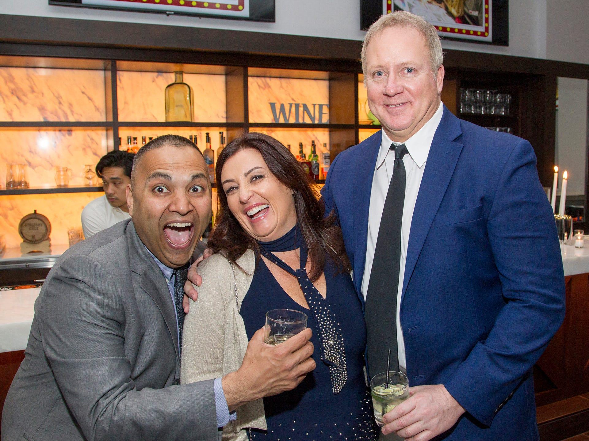 Niles Patel, Anastasia Kelly, Chris Taughran. Saddle River Day Annual Gala at Alpine Country Club 04/13/2019