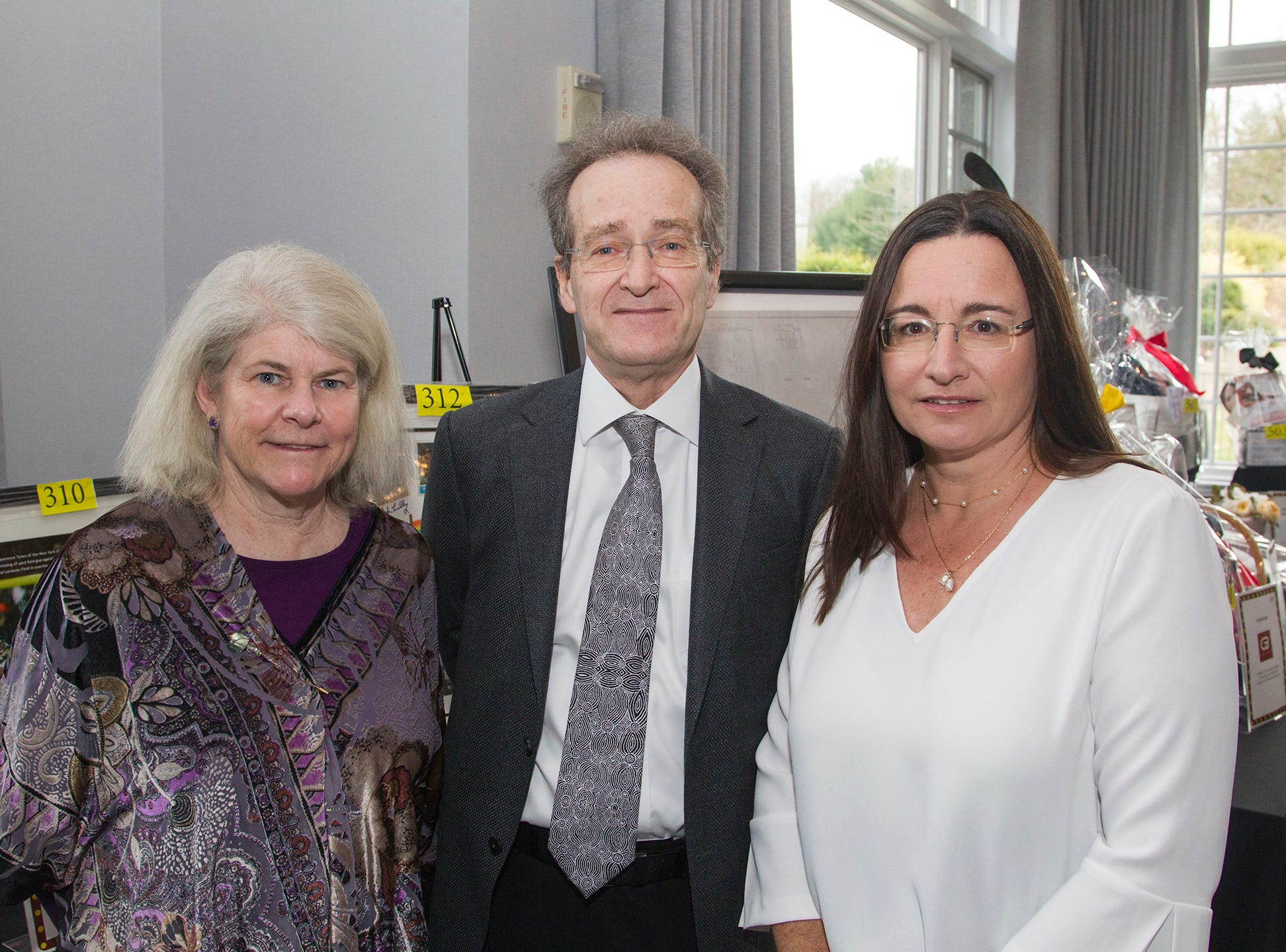 Eileen Lambert, Bruce Forrest, Eva Schadeck. Saddle River Day Annual Gala at Alpine Country Club 04/13/2019