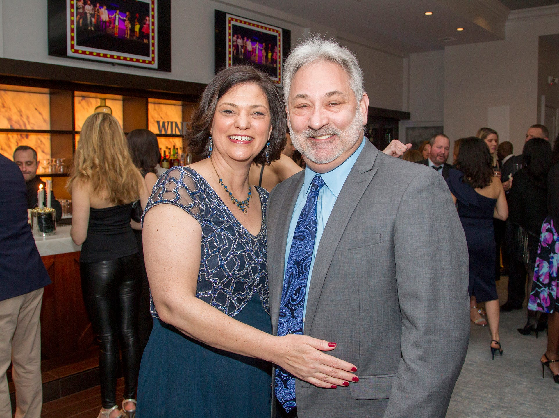 Jennifer and Andrew Davids. Saddle River Day Annual Gala at Alpine Country Club 04/13/2019