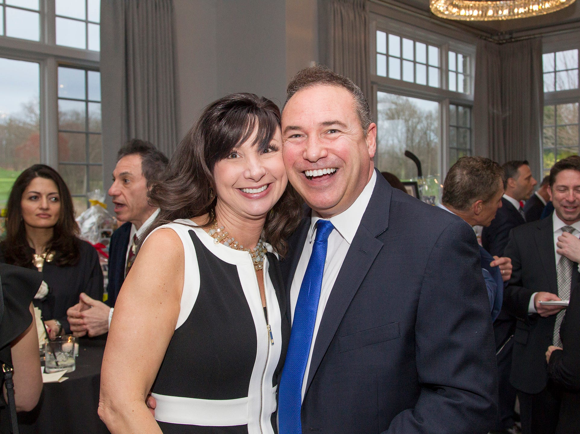 Chrissie and Paul Signore  Saddle River Day Annual Gala at Alpine Country Club 04/13/2019