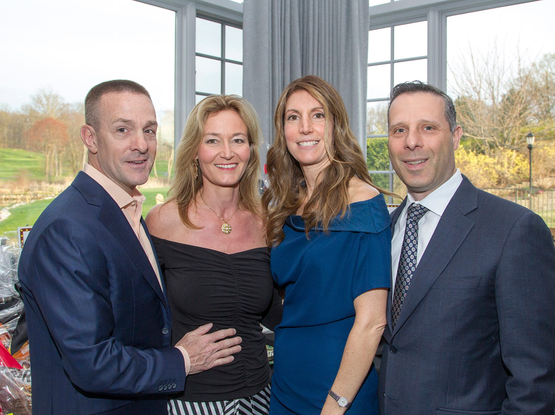 John and Claudia Halle, Alex and Ruffino Rosario.  Saddle River Day Annual Gala at Alpine Country Club 04/13/2019