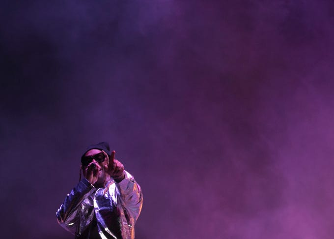 Wiz Khalifa performs with Ty Dolla $ign at Coachella 2019 in Indio, Calif. on Sat. April 13, 2019.
