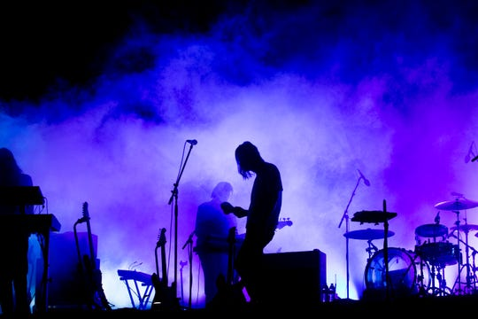Tame Impala perform on the Coachella Stage during the 2019 Coachella Valley Music and Arts Festival held at the Empire Polo Club in Indio, California on April 13, 2019.