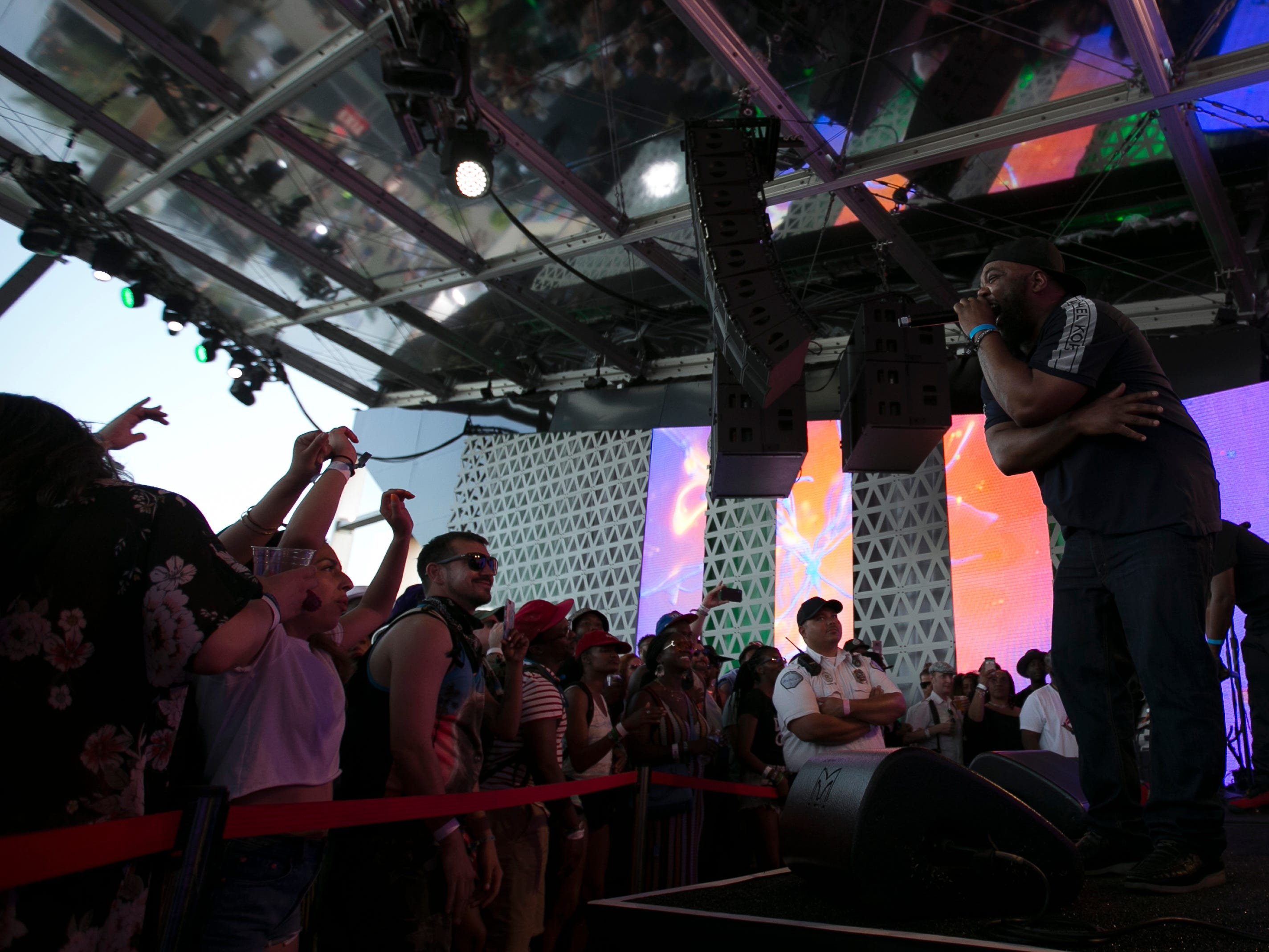 De La Soul performs at the Heineken House at the Coachella Valley Music and Arts Festival in Indio, Calif., on Saturday, April 13, 2019.