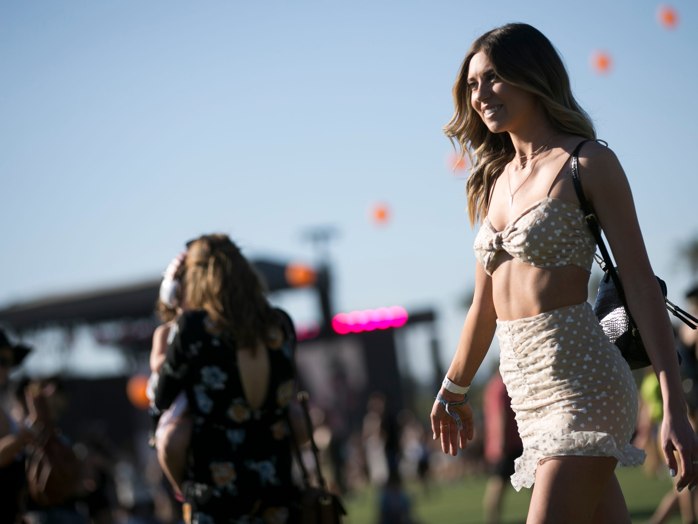 Bailey Roberts, from Las Vegas, poses from photo at Coachella 2019 in Indio, Calif. on Sat. April 13, 2019.