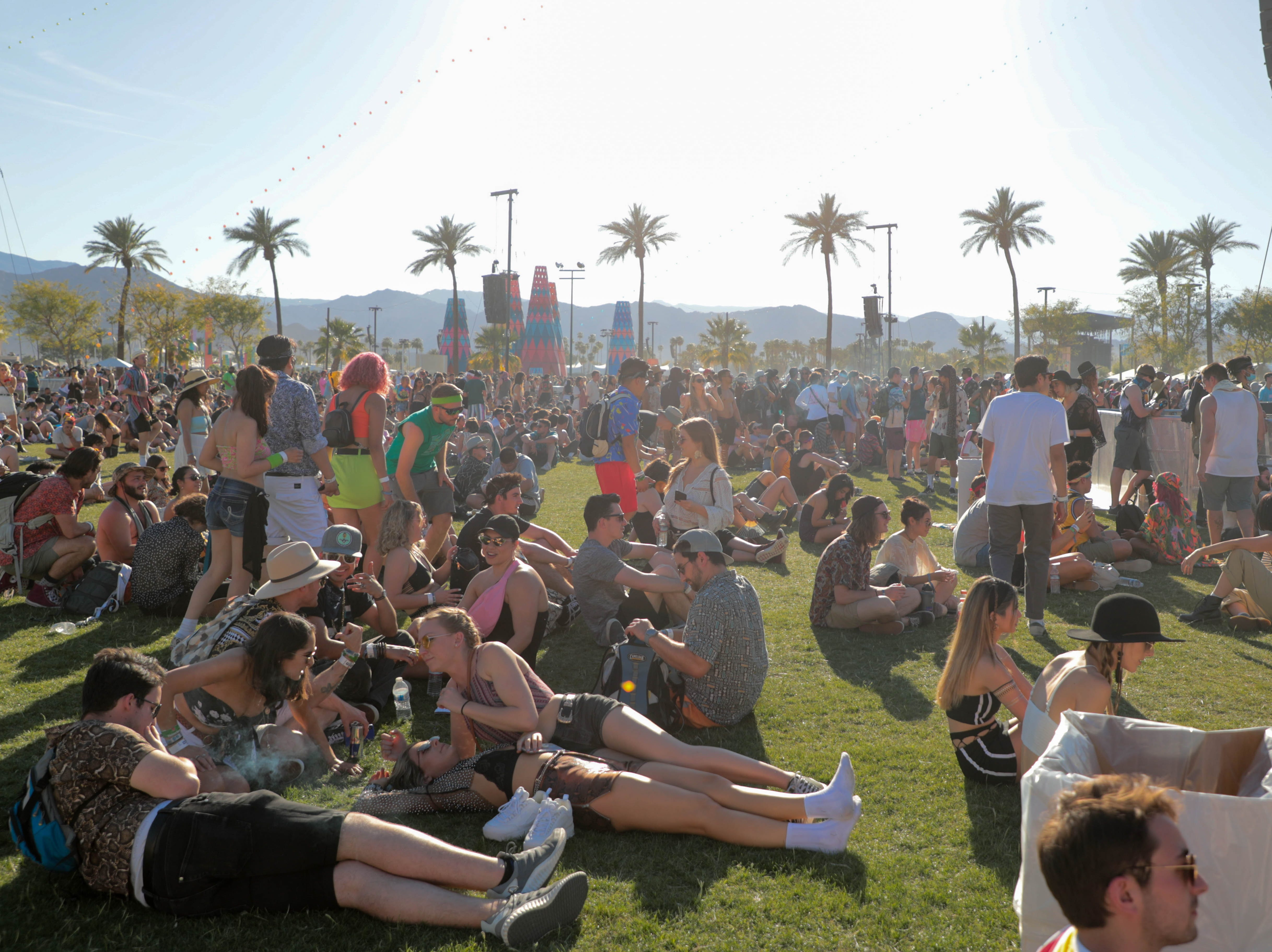 Fans listen as Mac Demarco performs at Coachella Valley Music and Arts Festival on Saturday, April 13, 2019.