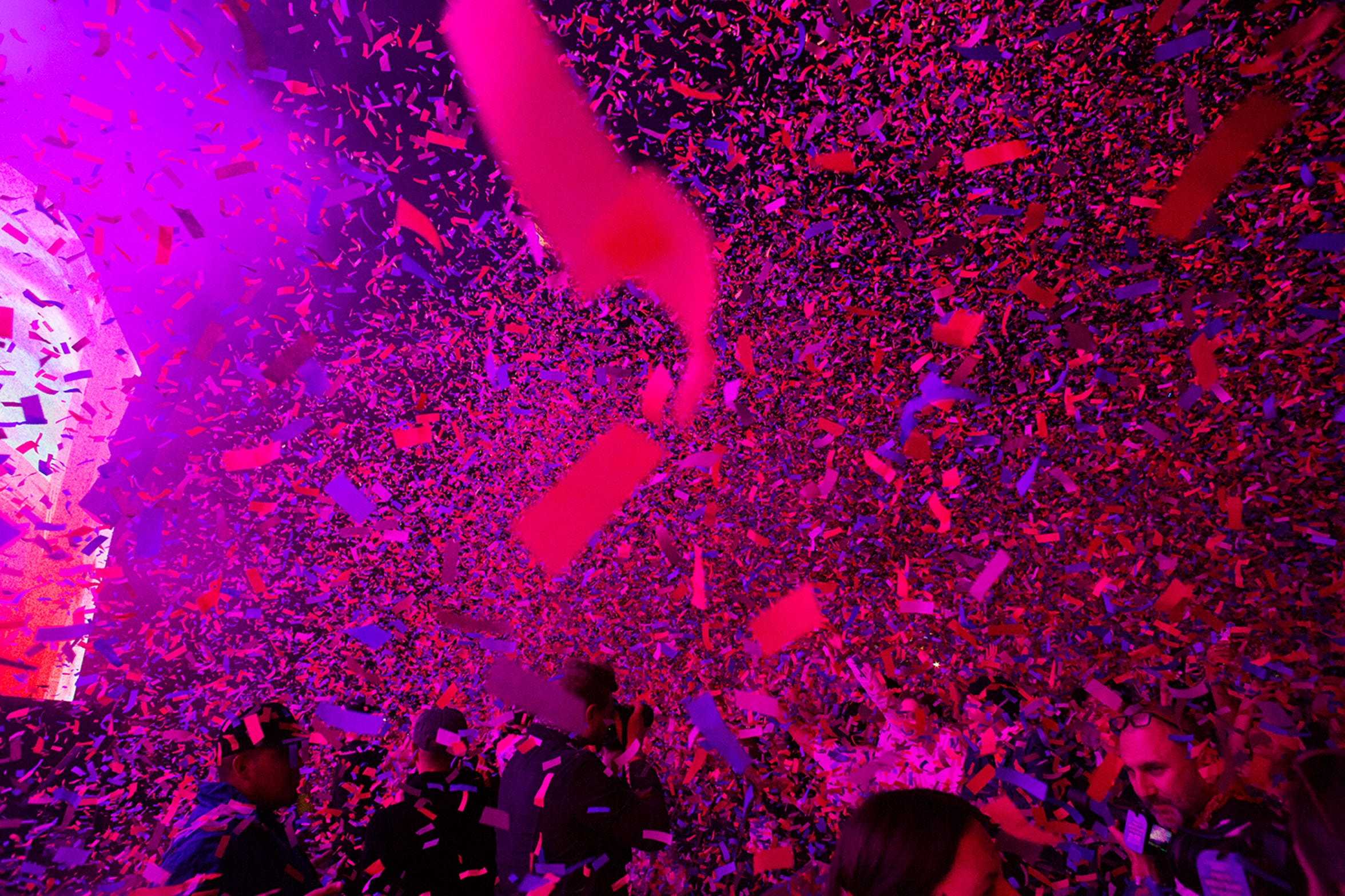 Enriqueta Magaña said her crew spent about three hours cleaning up confetti at the Coachella music festival.