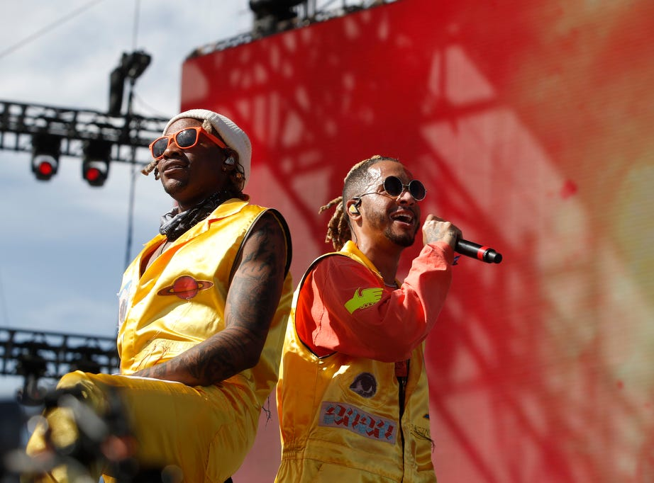 Social House performs at the Outdoor Stage during the 2019 Coachella Valley Music and Arts Festival held at the Empire Polo Club in Indio, California on April 14, 2019.
