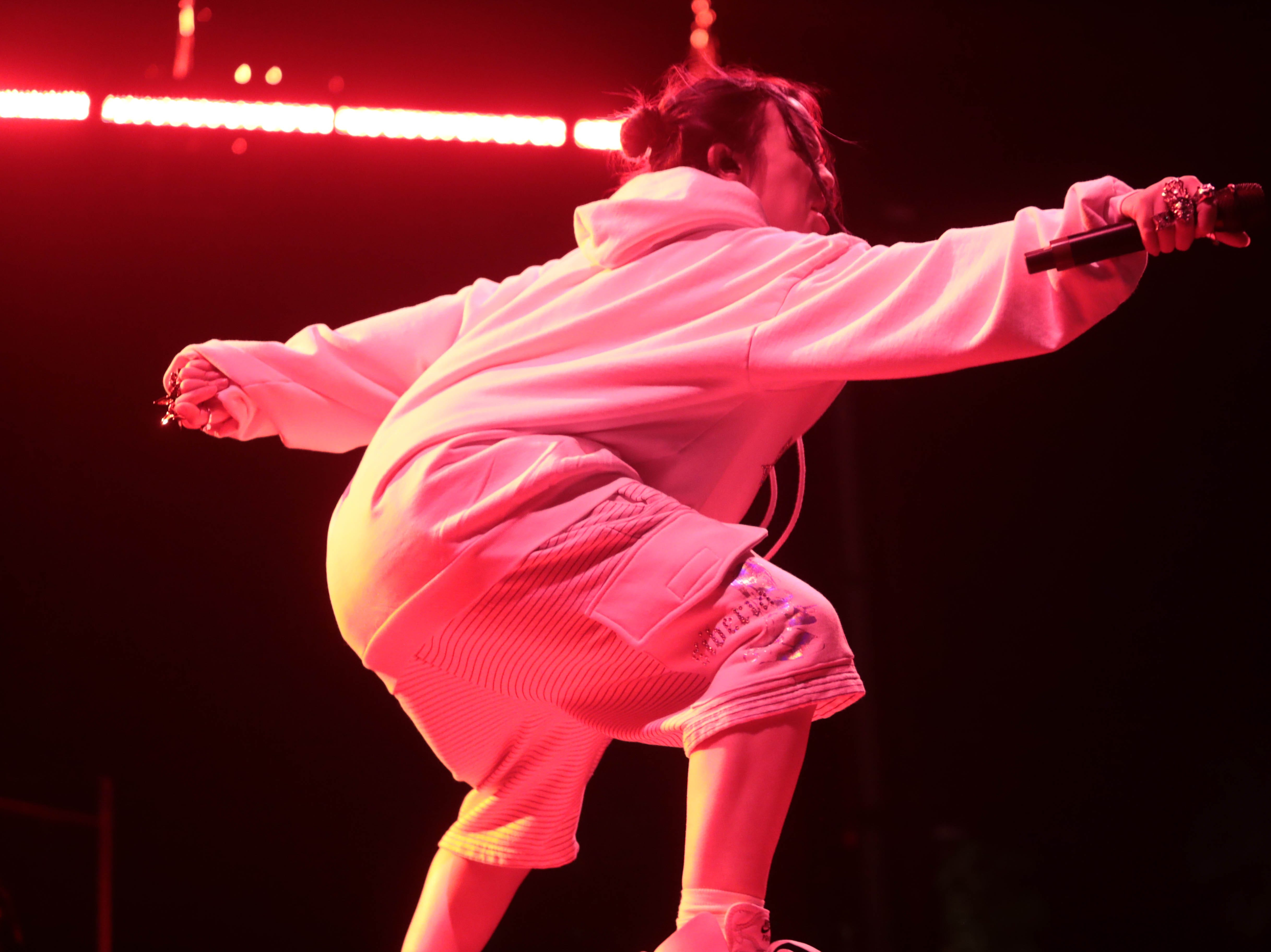 Billie Eilish performs on Saturday, April 13, 2019 at Coachella Valley Music and Arts Festival in Indio, Calif.