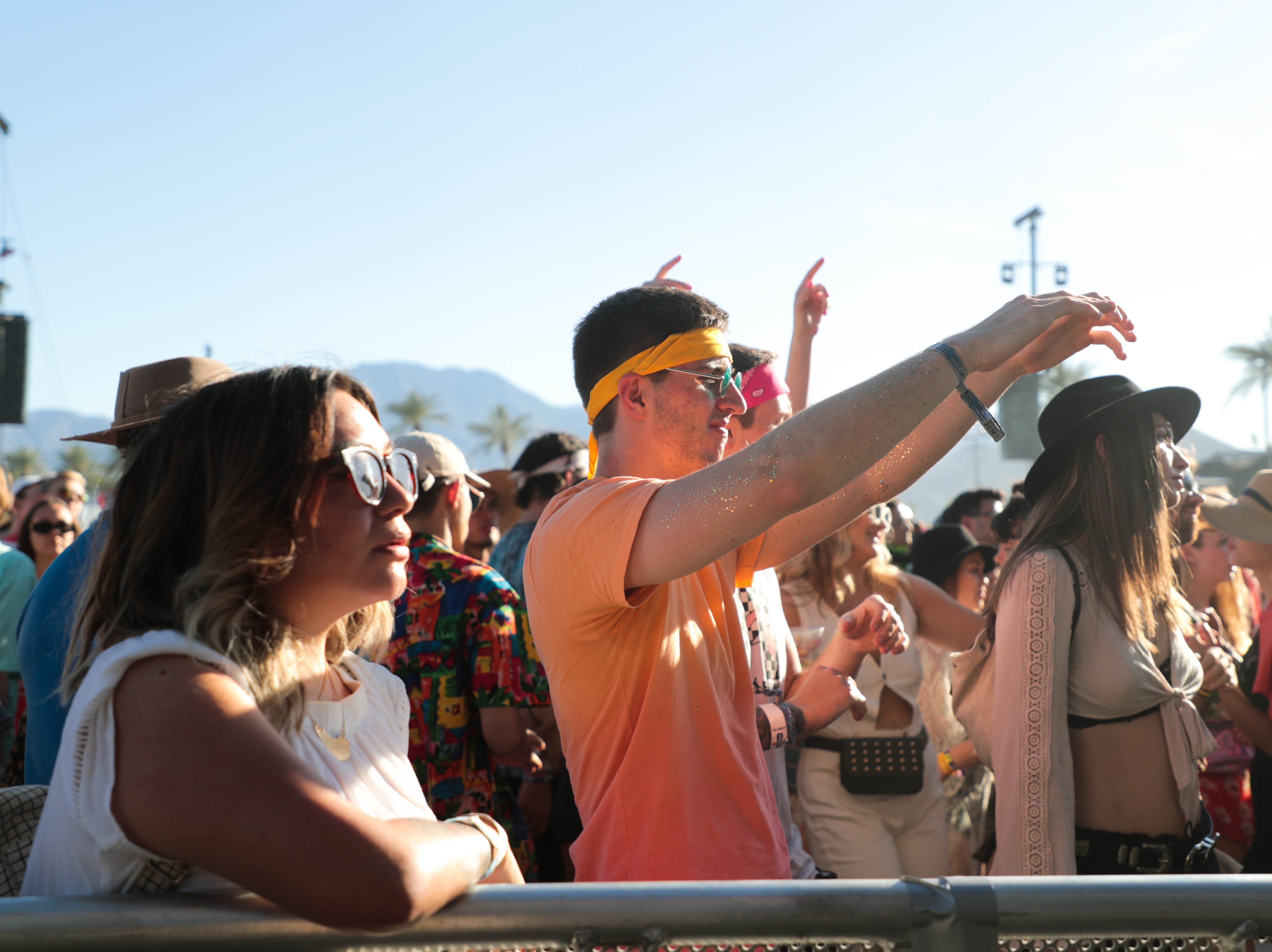 Fans dance as Mac Demarco performs at Coachella Valley Music and Arts Festival on Saturday, April 13, 2019.