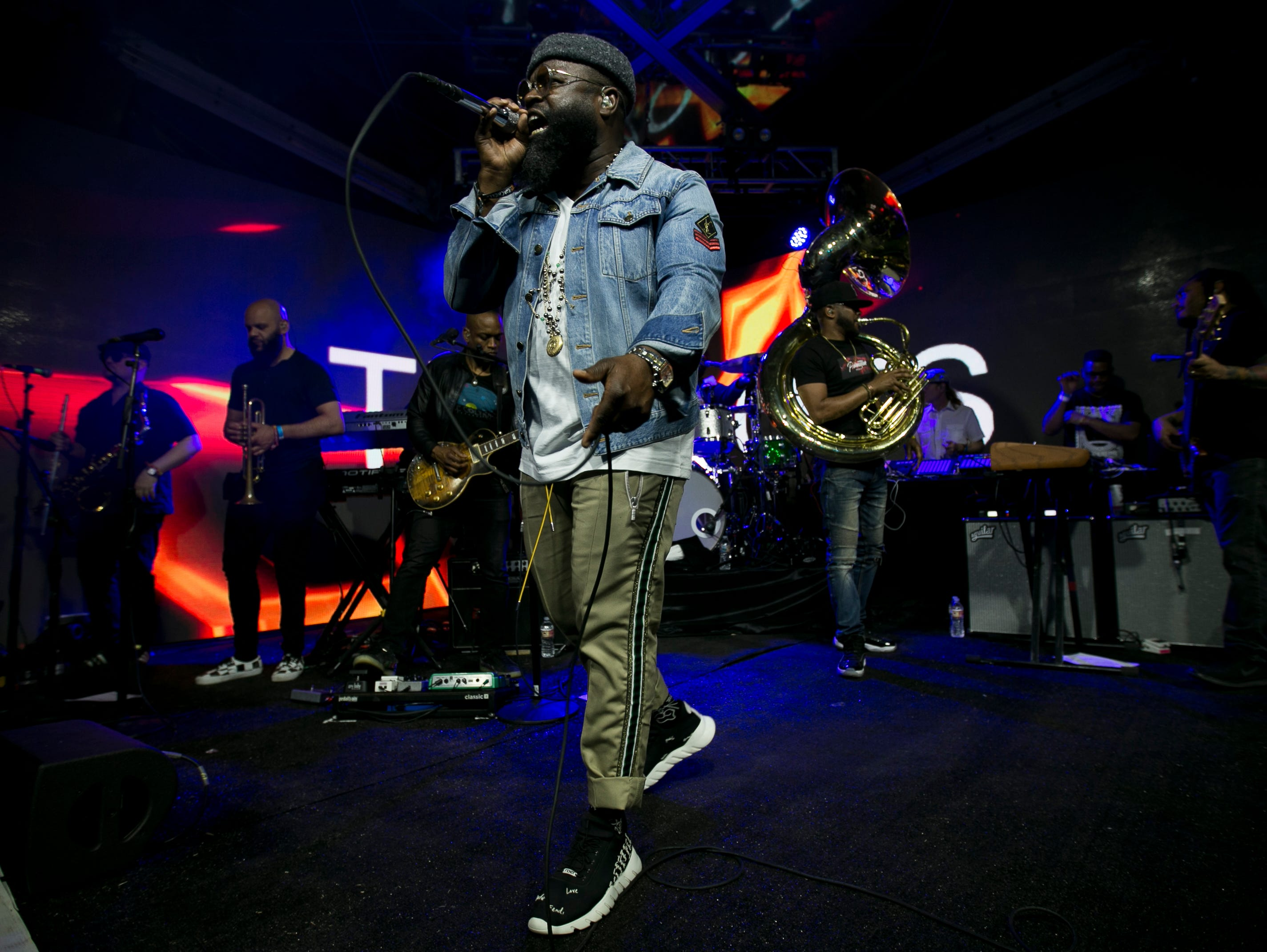 The Roots perform in the Heineken House at the Coachella Valley Music and Arts Festival in Indio, Calif., April 13, 2019.